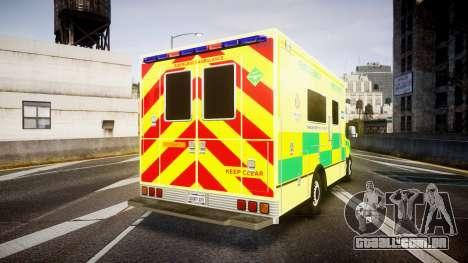 Mercedes-Benz Sprinter Ambulance [ELS] para GTA 4 traseira esquerda vista