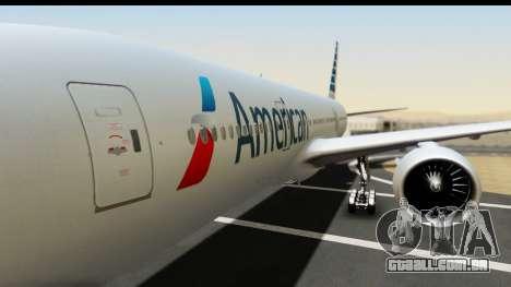 Boeing 777-200ER American Airlines para GTA San Andreas vista traseira