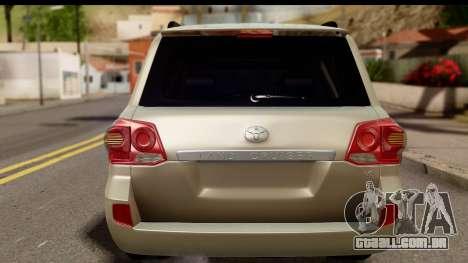 Toyota Land Cruiser 200 2013 para GTA San Andreas vista direita