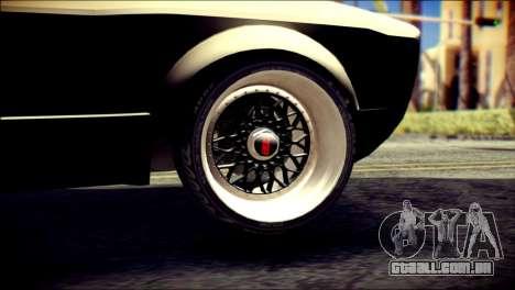 Volkswagen Caddy Widebody Top-Chop para GTA San Andreas traseira esquerda vista