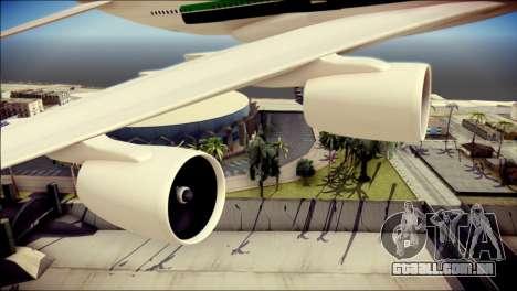 Airbus A380-800 Fly Emirates Airline para GTA San Andreas vista direita