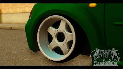 Dacia Logan Stance para GTA San Andreas traseira esquerda vista