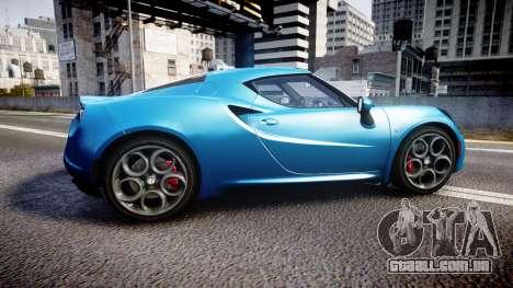 Alfa Romeo 4C 2014 HD Textures para GTA 4 esquerda vista