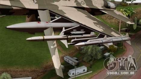 F-16C Top Gun para GTA San Andreas vista direita