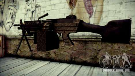 Gold M60 with Custom GTA 5 Icon para GTA San Andreas segunda tela
