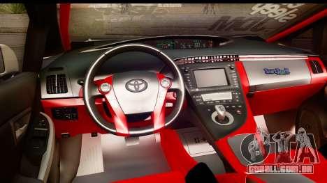 Toyota Prius Hybrid Eri Ayase Love Live Itasha para GTA San Andreas vista interior