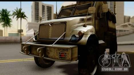 International MaxxPro MRAP para GTA San Andreas traseira esquerda vista