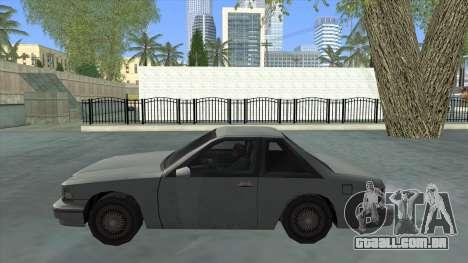 Premier Coupe para GTA San Andreas esquerda vista