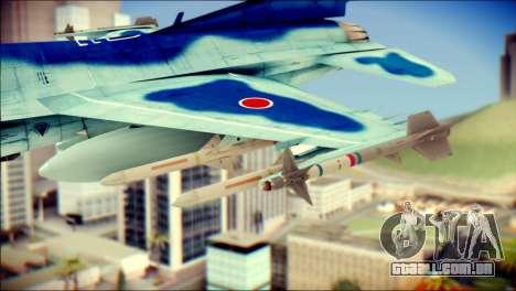 Mitsubishi F-2A JASDF v3.0 para GTA San Andreas vista direita