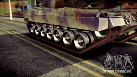 Leopard 2A6 PJ para GTA San Andreas traseira esquerda vista