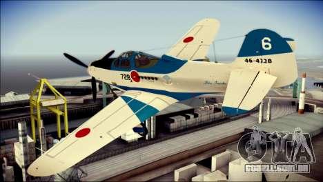 P-39N Airacobra JASDF Blue Impulse para GTA San Andreas esquerda vista