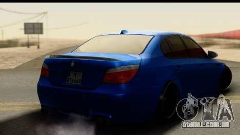 BMW M5 E60 Stanced para GTA San Andreas esquerda vista