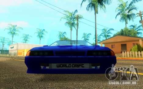 Elegy WorldDrift v1 para GTA San Andreas esquerda vista
