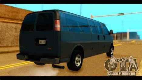 GMC Savana 3500 Passenger 2013 para GTA San Andreas esquerda vista
