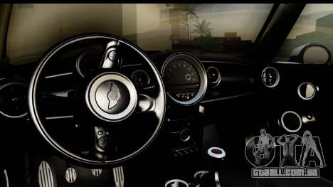Mini Cooper Clubman 2011 para GTA San Andreas vista interior