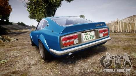Nissan Fairlady Z (S30) Devil Z para GTA 4 traseira esquerda vista