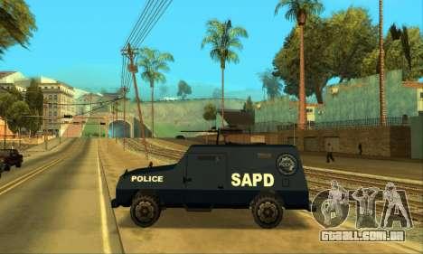 Beta FBI Truck para GTA San Andreas vista interior