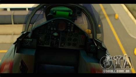 Mitsubishi F-4J JASDF para GTA San Andreas vista traseira