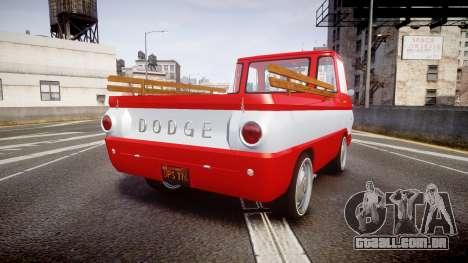 Dodge A100 Pickup 1964 para GTA 4 traseira esquerda vista