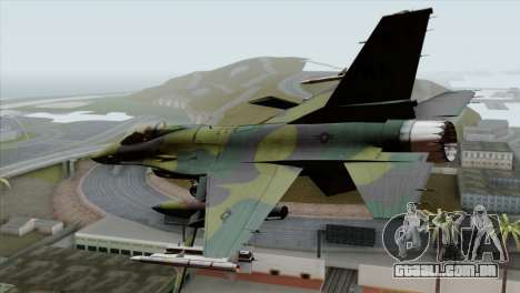 F-16C USAF CAS-EURO para GTA San Andreas esquerda vista