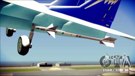 Mikoyan-Gurevich MIG-29K para GTA San Andreas vista direita