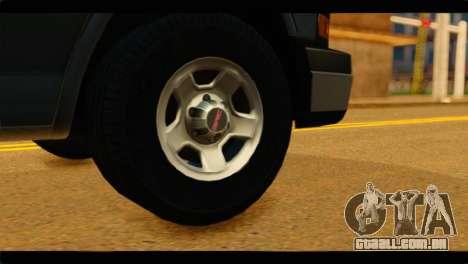 GMC Savana 3500 Passenger 2013 para GTA San Andreas traseira esquerda vista