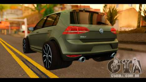 Volkswagen Golf Mk7 2014 para GTA San Andreas esquerda vista