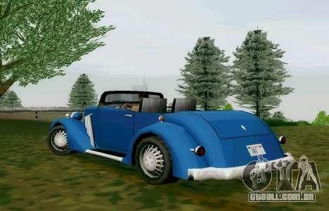 Hustler Cabriolet para GTA San Andreas traseira esquerda vista