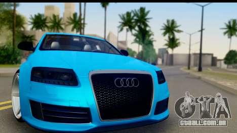 Audi RS6 Vossen para GTA San Andreas traseira esquerda vista