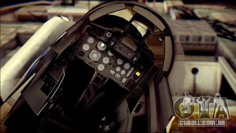 MIG-29 Fulcrum Reskin para GTA San Andreas vista traseira