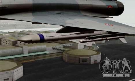 Dassault Mirage 2000-5 ACAH para GTA San Andreas vista direita