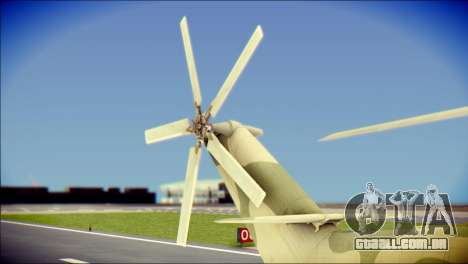 Mi-26 Halo para GTA San Andreas traseira esquerda vista