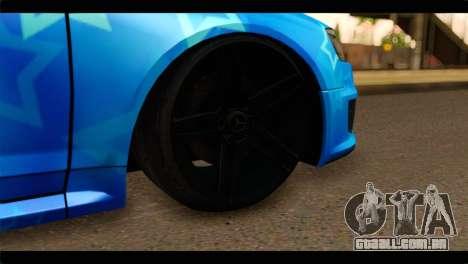 Audi RS6 VIP Star para GTA San Andreas traseira esquerda vista