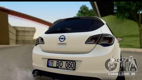 Opel Astra J para GTA San Andreas vista direita