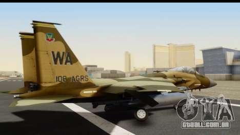 F-15C Eagle Desert Aggressor para GTA San Andreas esquerda vista