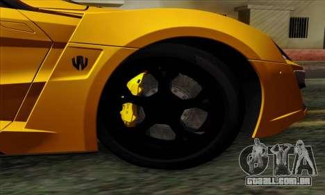 Lykan Hypersport 2014 Livery Pack 2 para GTA San Andreas traseira esquerda vista