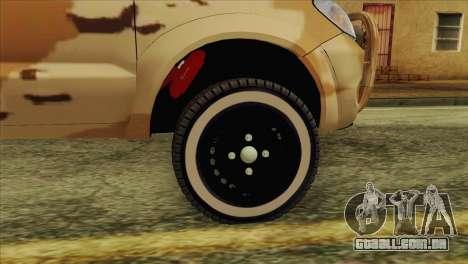 Toyota Hilux Siria Rebels without flag para GTA San Andreas vista direita