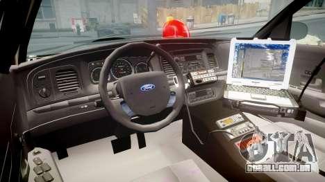 Ford Crown Victoria NYPD Unmarked [ELS] para GTA 4 vista de volta