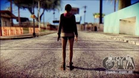 Moira Burton from Resident Evil para GTA San Andreas segunda tela