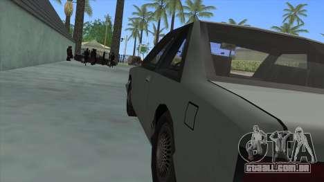 Premier Coupe para GTA San Andreas vista traseira