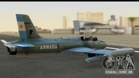 Aermacchi MB-326 ARM para GTA San Andreas esquerda vista
