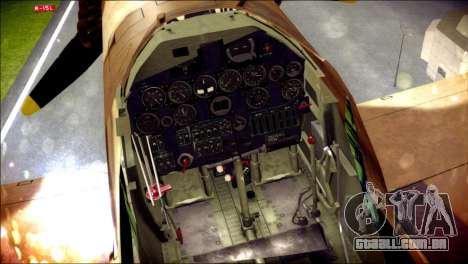 P-40E 325th Fighter Group para GTA San Andreas vista direita