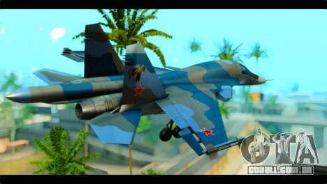 SU-34 Fullback Russian Air Force Camo Blue para GTA San Andreas esquerda vista