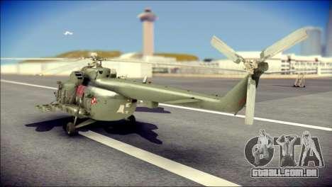 Mil Mi-8 Polish Air Force EUFOR para GTA San Andreas esquerda vista