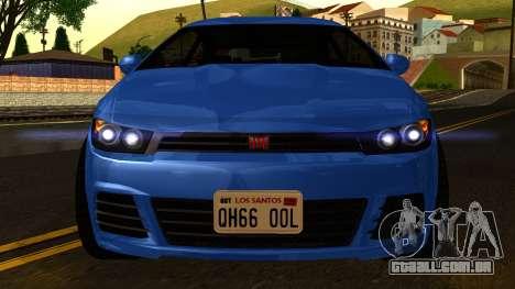 GTA 5 Dinka Blista para GTA San Andreas vista interior