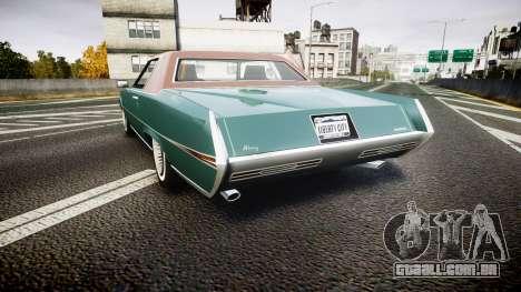 Albany Manana GTA V Style para GTA 4 traseira esquerda vista
