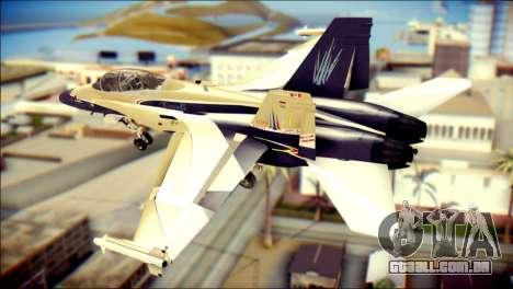 FA-18D Hornet RCAF para GTA San Andreas esquerda vista