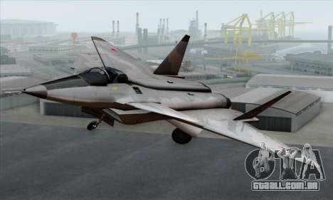 MIG 1.44 Flatpack Russian Air Force para GTA San Andreas vista traseira