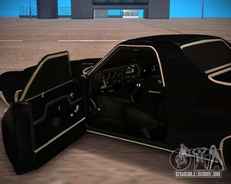 Chevrolet El Camino SS Green Hornet para GTA San Andreas vista traseira