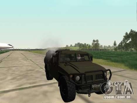 GAZ 2330 Frente para GTA San Andreas vista traseira